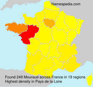 Surname Mouraud in France