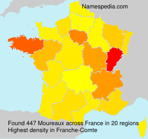 Surname Moureaux in France