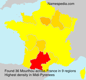 Surname Mourlhou in France