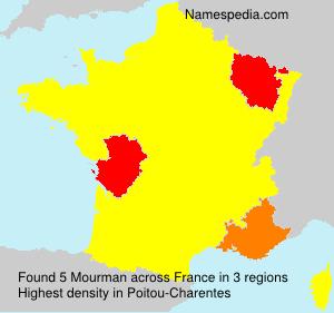 Familiennamen Mourman - France