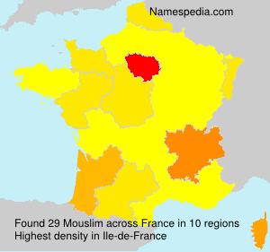 Familiennamen Mouslim - France