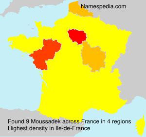 Familiennamen Moussadek - France