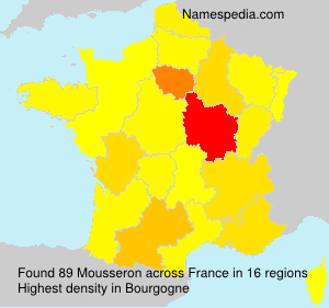 Surname Mousseron in France