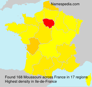 Surname Moussouni in France