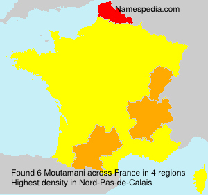 Surname Moutamani in France