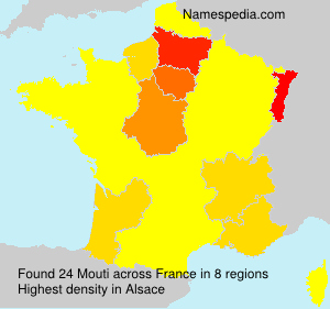 Surname Mouti in France