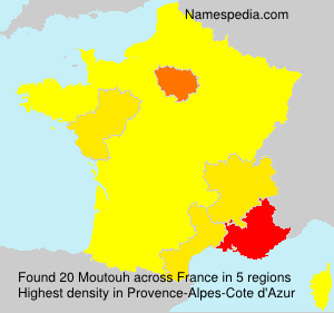 Surname Moutouh in France