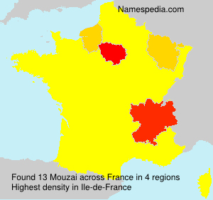 Surname Mouzai in France