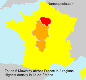 Surname Mowbray in France