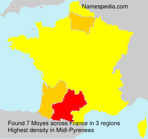 Surname Moyes in France