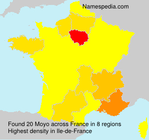 Surname Moyo in France