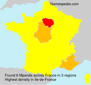 Surname Mpanda in France