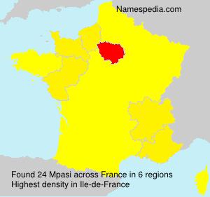 Surname Mpasi in France