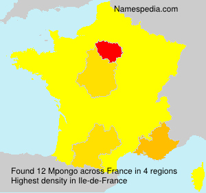 Surname Mpongo in France