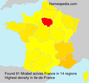 Surname Mrabet in France