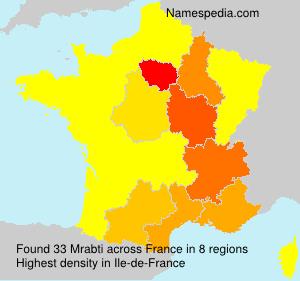 Surname Mrabti in France