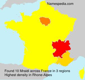 Surname Mraidi in France