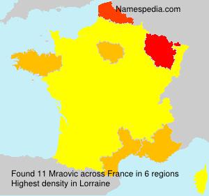 Surname Mraovic in France