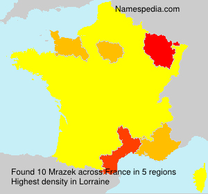 Surname Mrazek in France