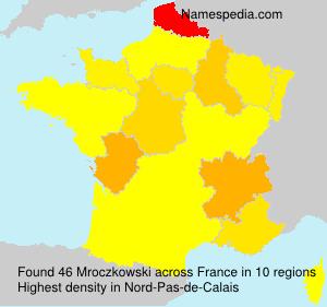 Surname Mroczkowski in France