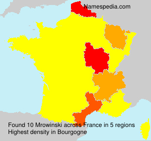 Surname Mrowinski in France