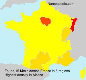 Familiennamen Mrsic - France
