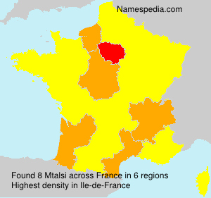 Surname Mtalsi in France