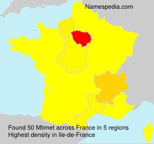 Surname Mtimet in France