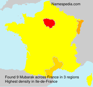 Surname Mubarak in France