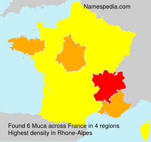 Surname Muca in France