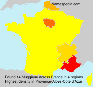 Surname Muggianu in France
