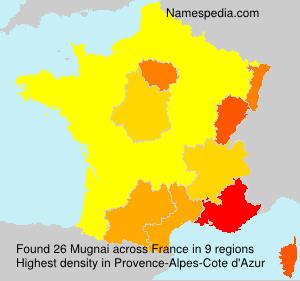 Surname Mugnai in France