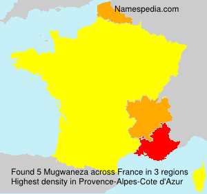 Surname Mugwaneza in France