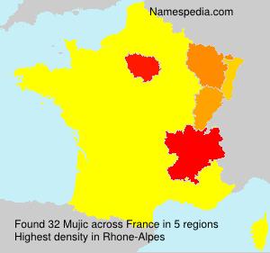 Familiennamen Mujic - France