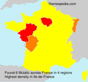 Surname Mulalic in France