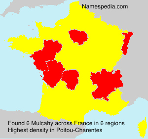 Surname Mulcahy in France