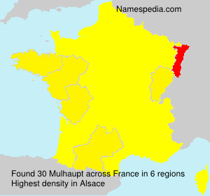 Surname Mulhaupt in France