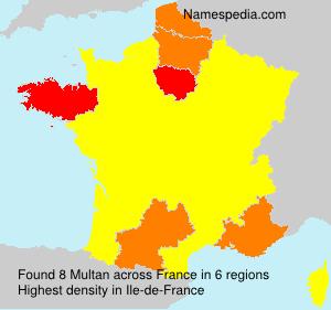 Surname Multan in France