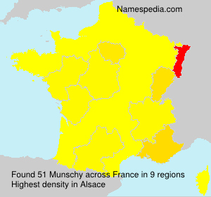 Surname Munschy in France