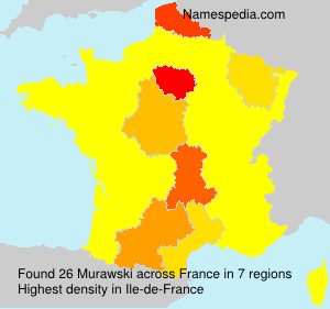 Surname Murawski in France