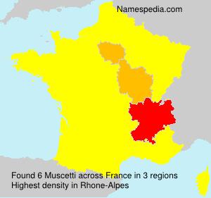 Familiennamen Muscetti - France