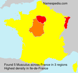 Surname Musculus in France