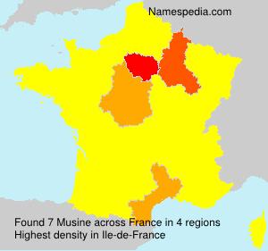 Surname Musine in France