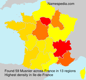 Surname Musnier in France