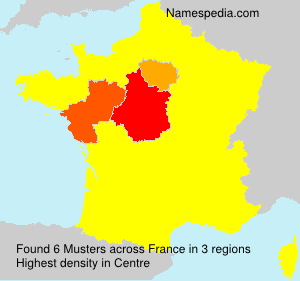 Surname Musters in France