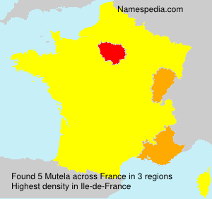 Familiennamen Mutela - France