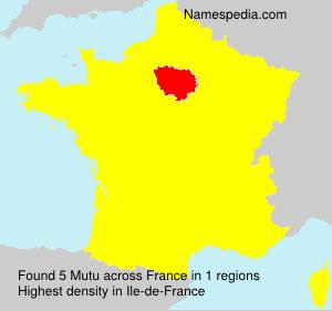 Surname Mutu in France