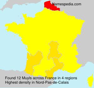 Surname Muyls in France
