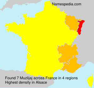 Surname Muzlijaj in France