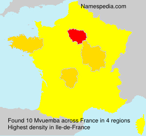 Familiennamen Mvuemba - France